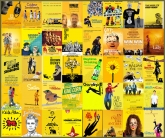 11 affiches jaunes indes